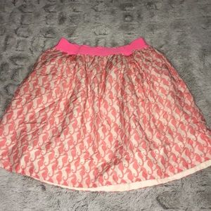 Girls Crewcuts Pink Seahorse Lined Skirt
